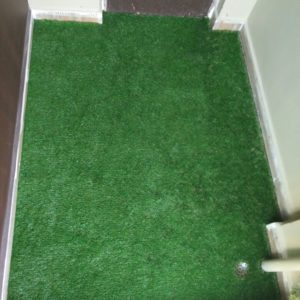 artificial grass at utility area