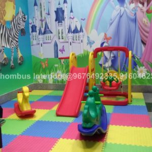 Customized Wallpapers in Visakhapatnam Airport Child Care Room